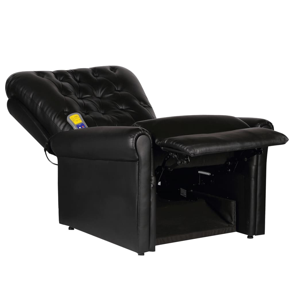 acheter fauteuil de massage lectrique inclinable en cuir artificiel noir pas cher. Black Bedroom Furniture Sets. Home Design Ideas