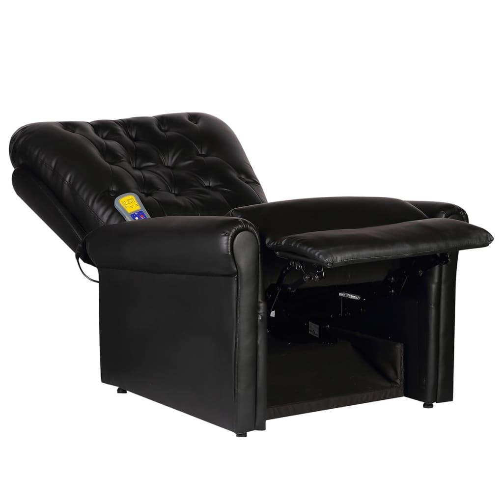 La boutique en ligne fauteuil de massage lectrique inclinable en cuir artifi - Fauteuil cuir electrique ...