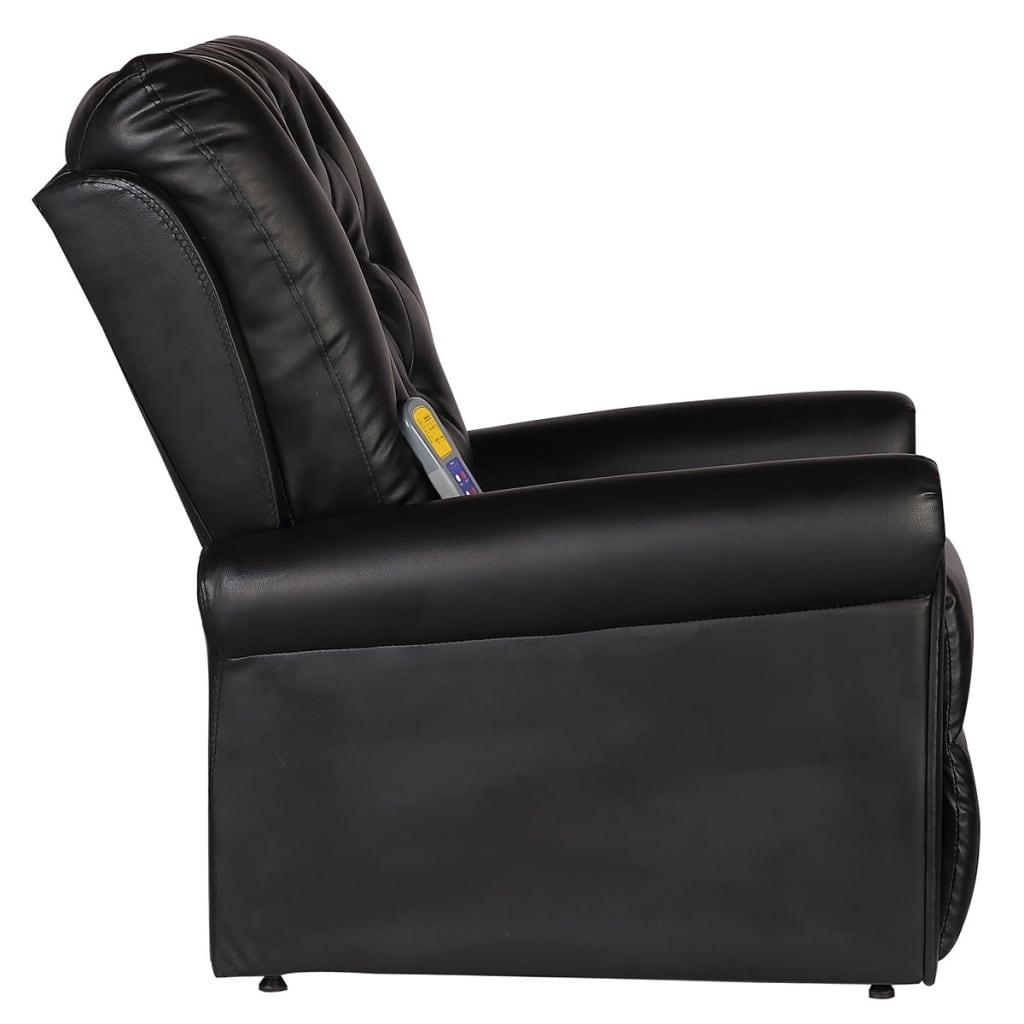 acheter fauteuil de massage lectrique inclinable en cuir artificiel noir pas cher. Black Bedroom Furniture Sets. Home Design Ideas