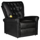 Poltrona di massaggio elettrica reclinabile in ecopelle nera