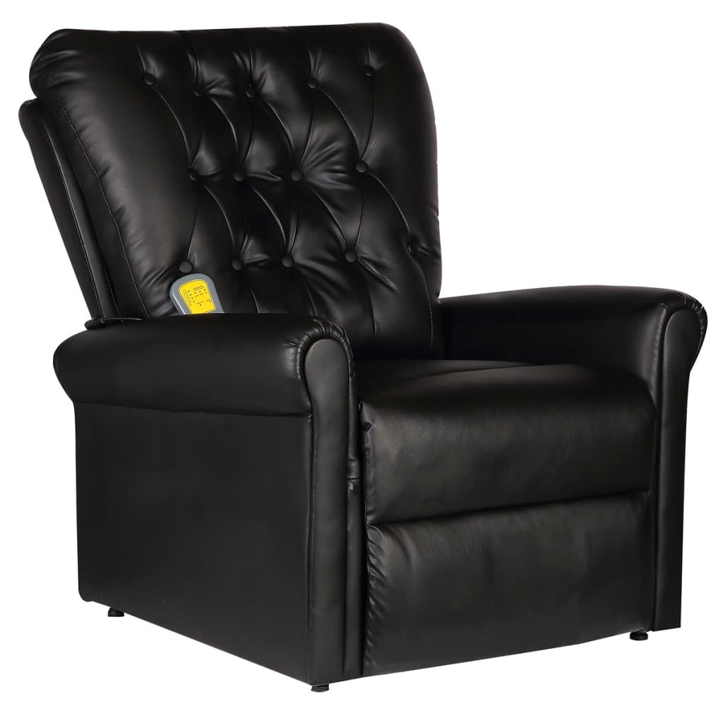 la boutique en ligne fauteuil de massage lectrique inclinable en cuir artificiel noir. Black Bedroom Furniture Sets. Home Design Ideas