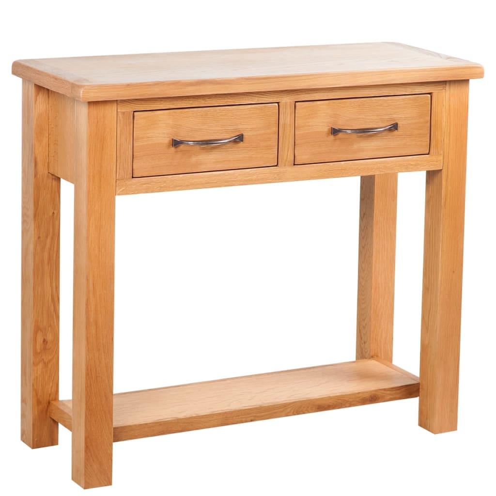 vidaXL 2 fiókos tölgyfa tálalóasztal 83 x 30 73 cm
