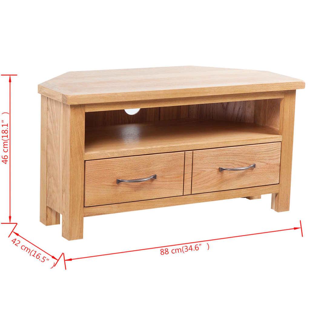 Acheter meuble tv en ch ne tiroir 88 x 42 x 46 cm pas for Meuble tv solde