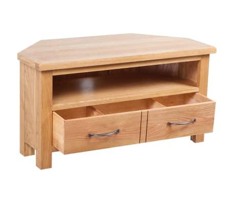 TV-Tisch mit Schublade 88 x 42 x 46 cm Eiche[3/7]