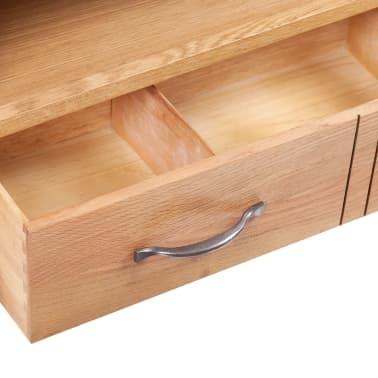 TV-Tisch mit Schublade 88 x 42 x 46 cm Eiche[4/7]