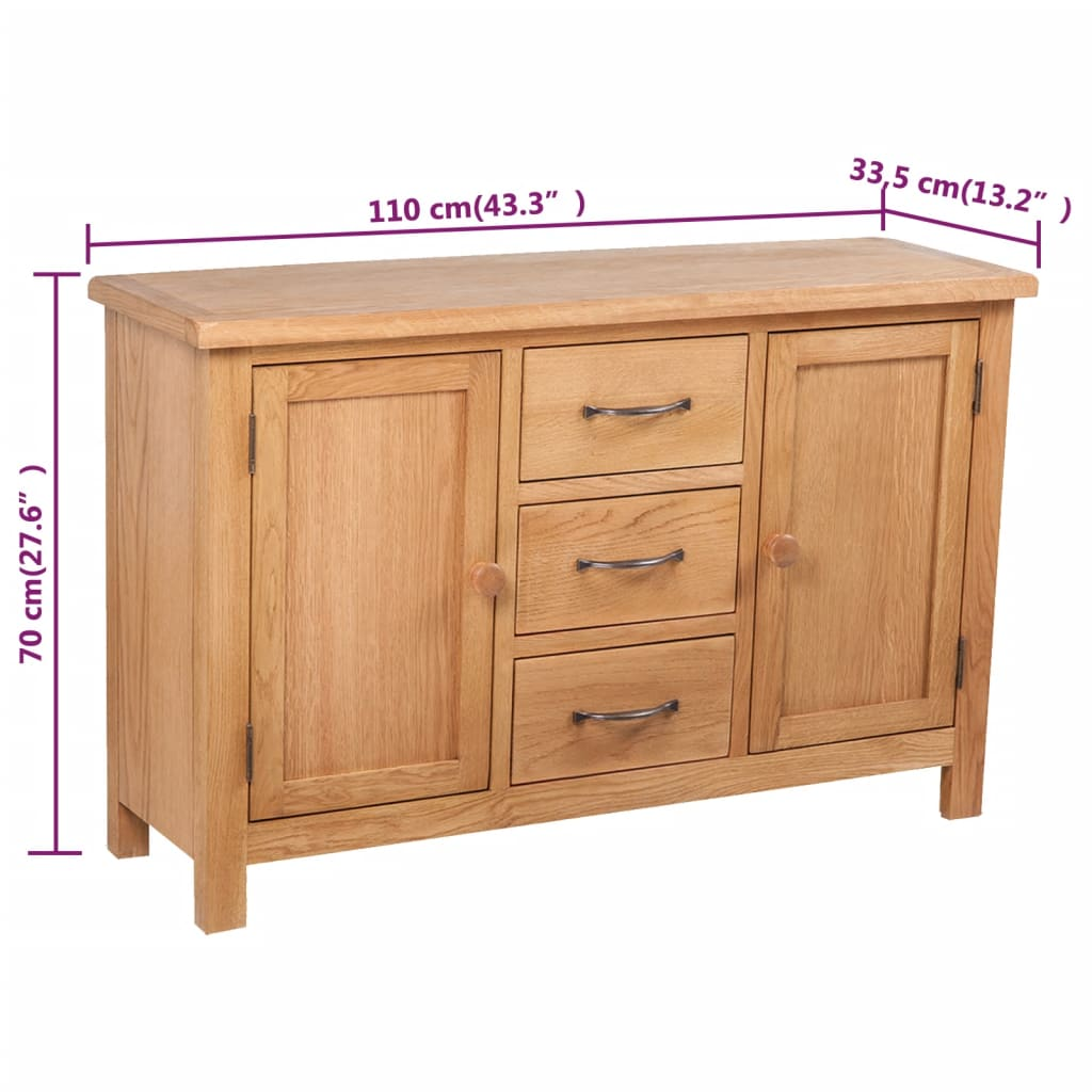 Large sideboard with 3 drawers 110 x 33 5 x for Sideboard x7
