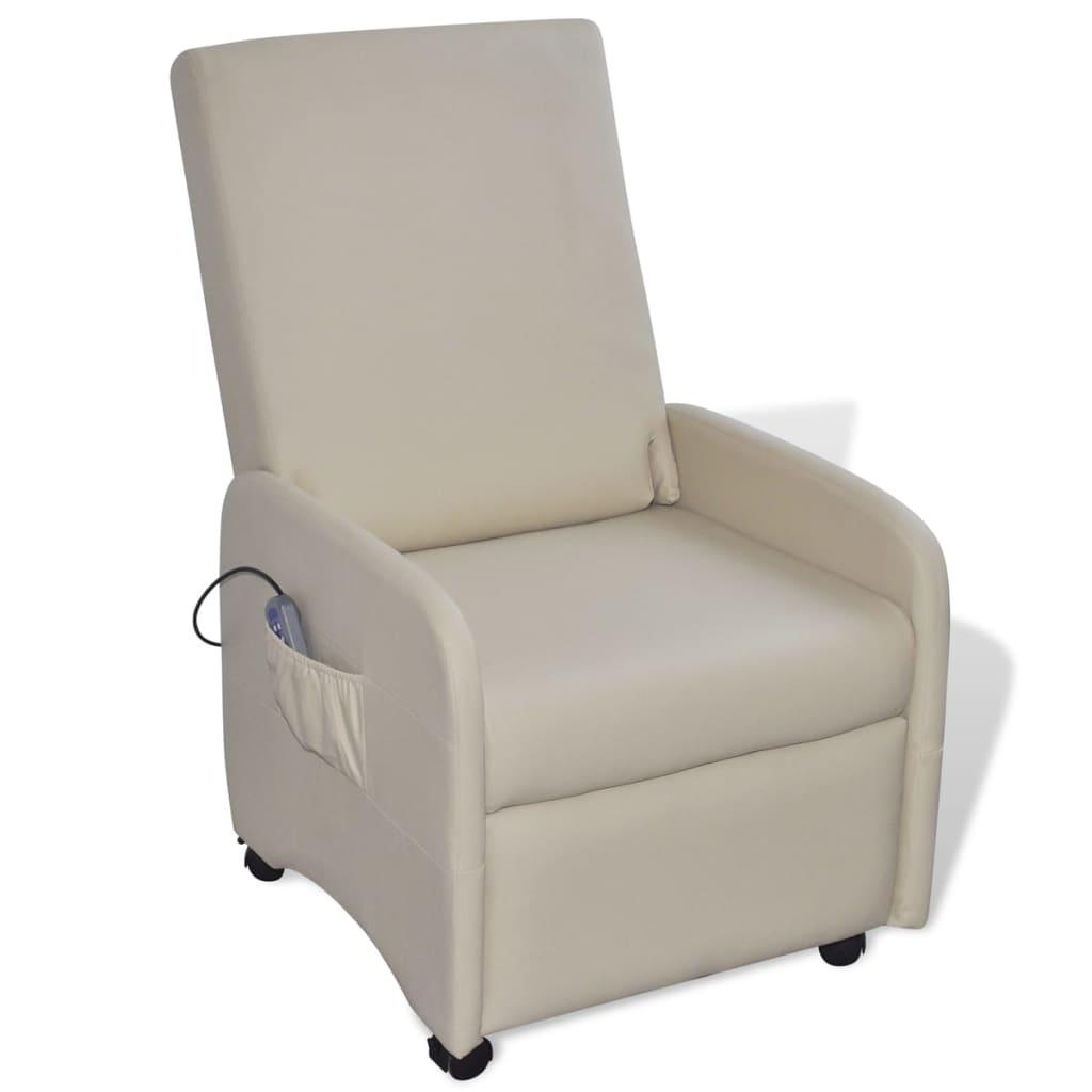 La boutique en ligne fauteuil massant inclinable et pliable en cuir artificie - Fauteuil massant suisse ...