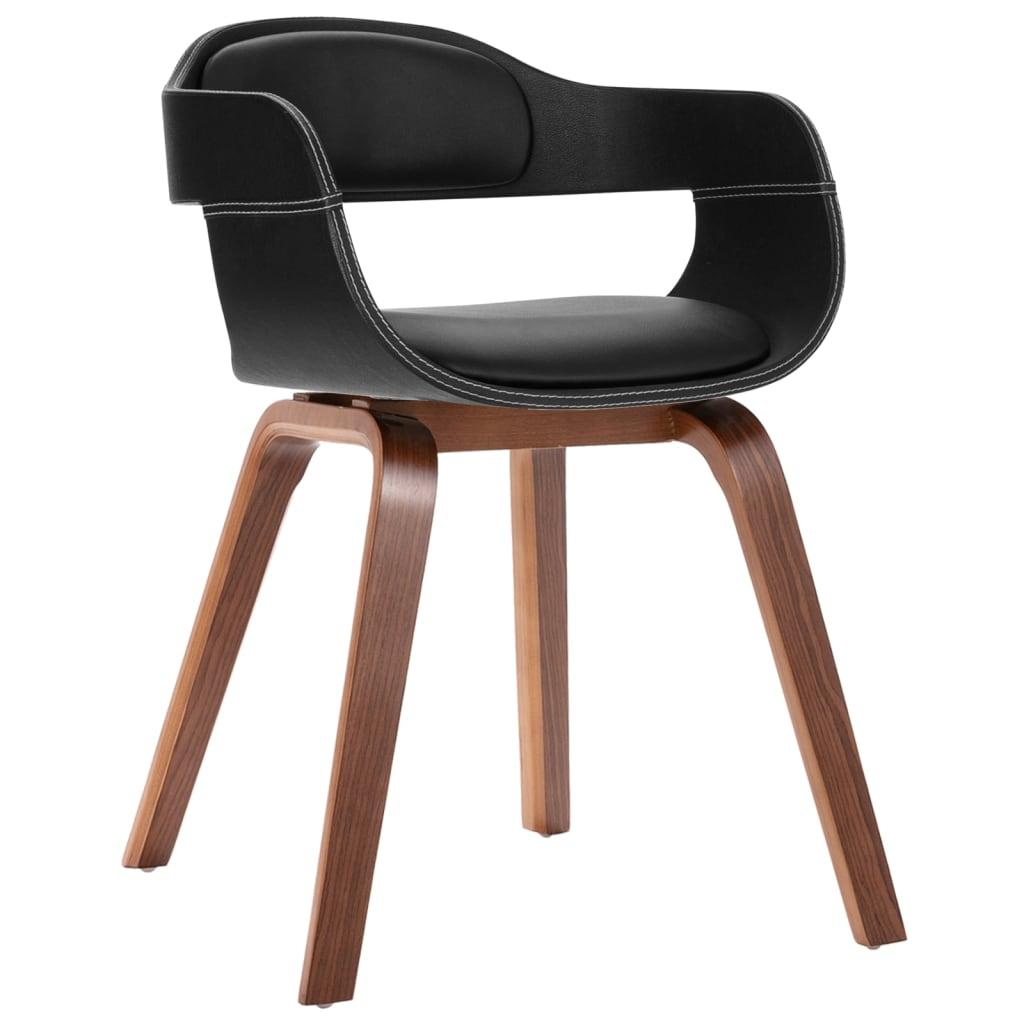 vidaXL Krzesło do jadalni, nogi z giętego drewna, eko-skóra