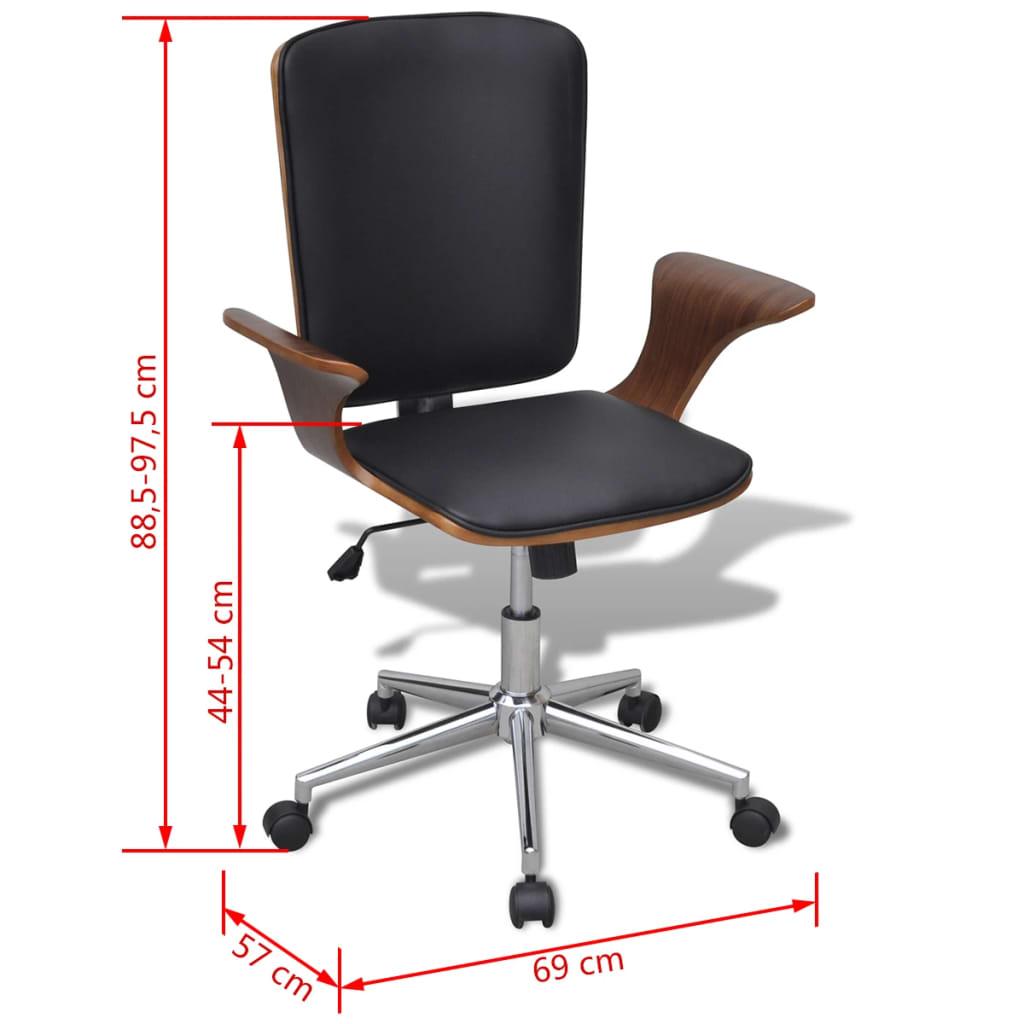 acheter chaise de bureau rotative en bois cintr avec. Black Bedroom Furniture Sets. Home Design Ideas