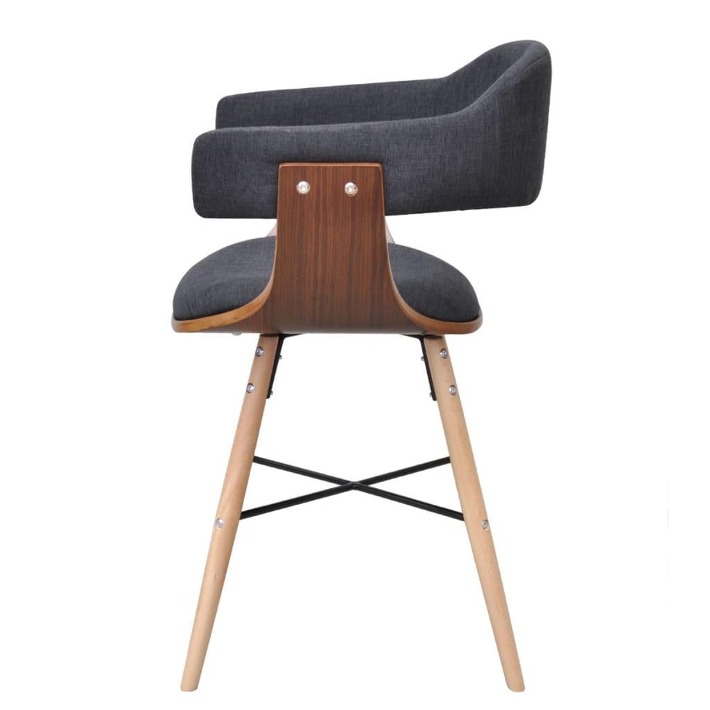 acheter 2 chaises en bois cintr avec rev tement en tissu pas cher. Black Bedroom Furniture Sets. Home Design Ideas