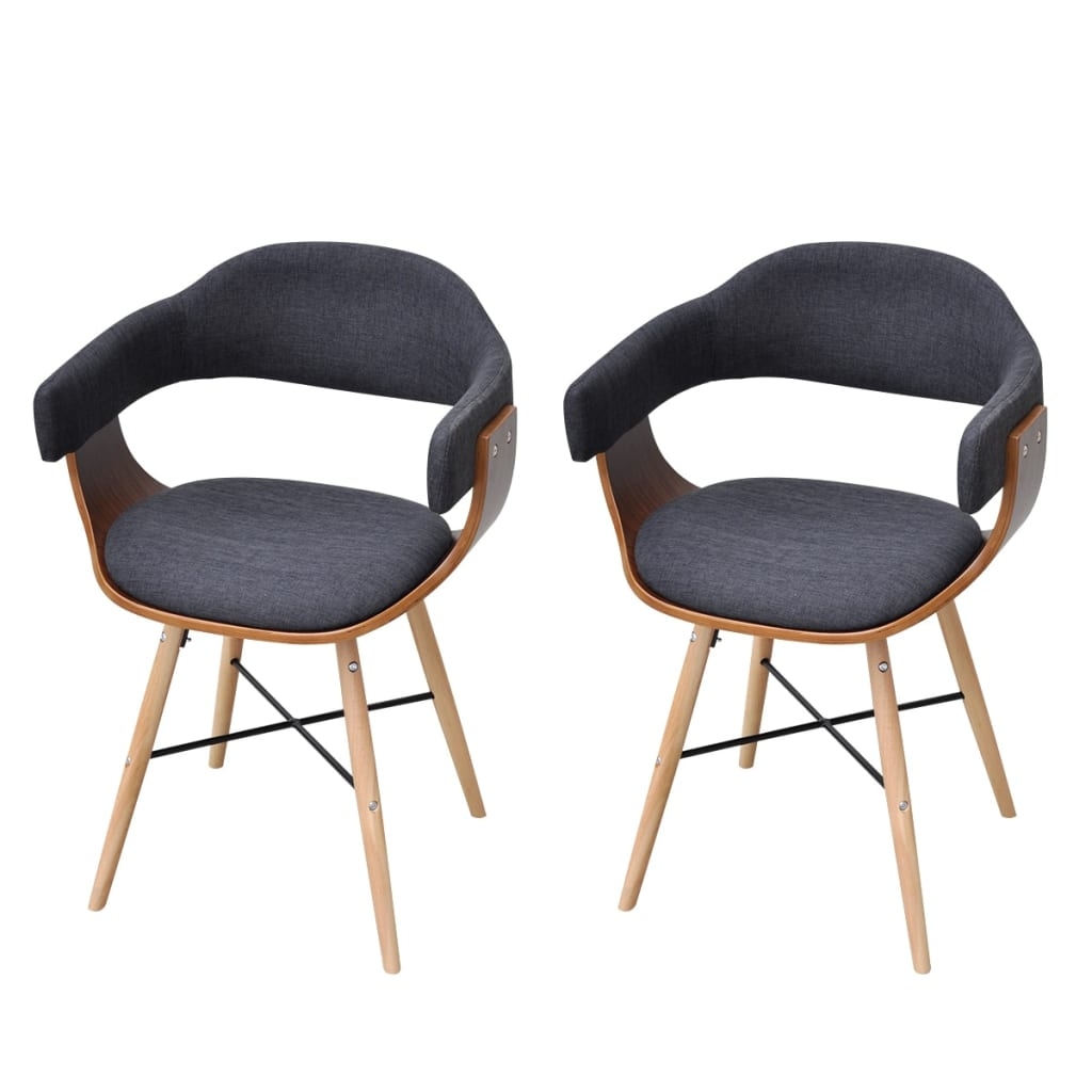 2 pcs Dining Chair Bentwood with Fabric Upholstery www  : image from www.vidaxl.com.au size 1024 x 1024 png 541kB