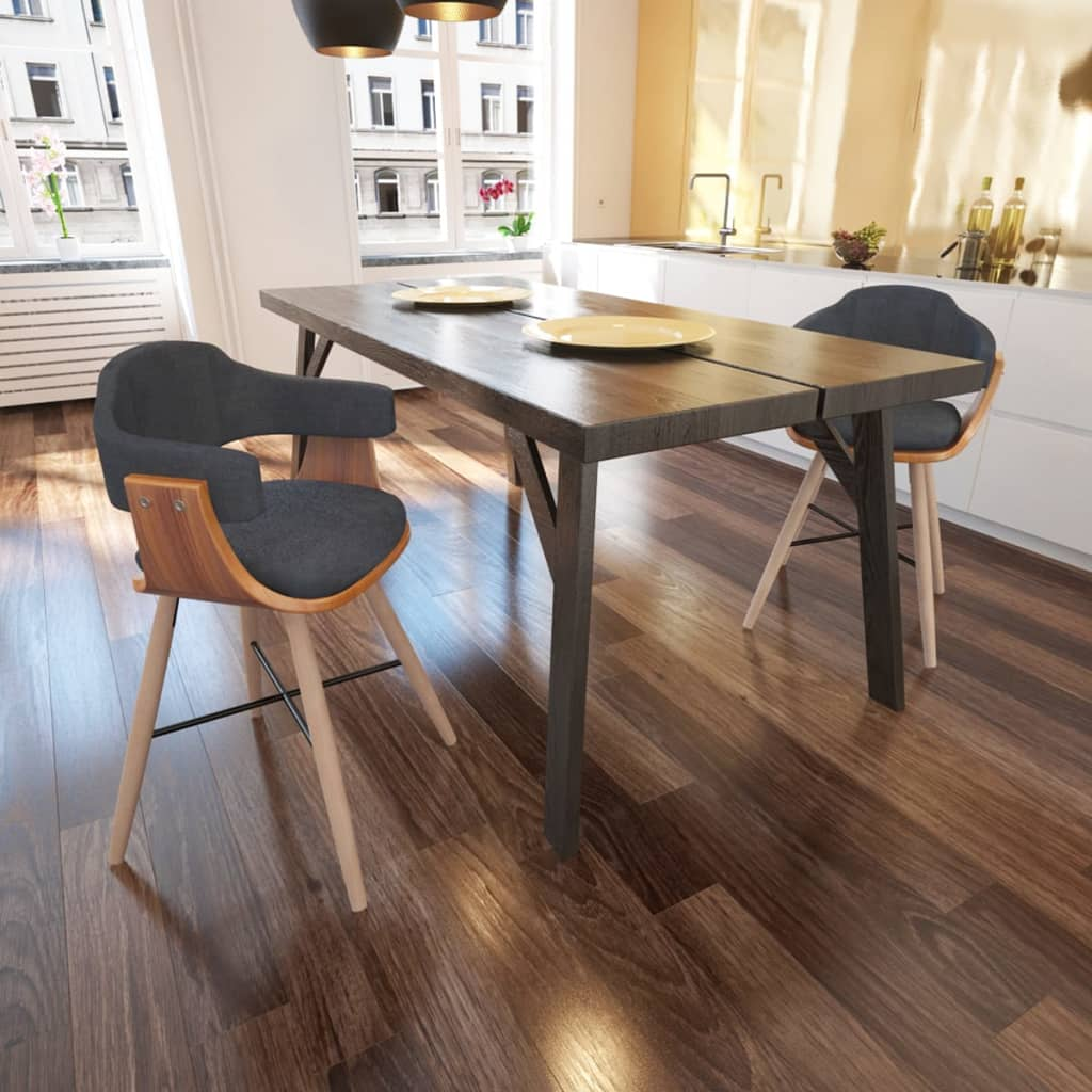 Set 2/4/6 pz Sedia sala da pranzo in legno curvatorivestimento in ...