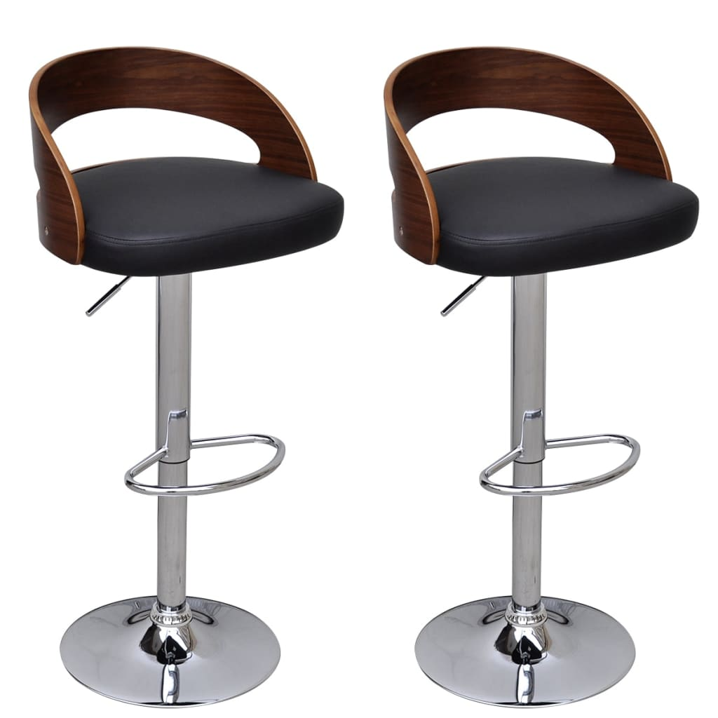 2 pcs bentwood bar stool with backrest height adjustable for Bar stool height