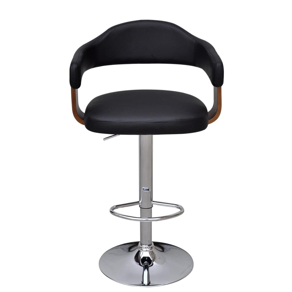 acheter 2 tabourets de bar en bois cintr avec dossier et accoudoirs pas cher. Black Bedroom Furniture Sets. Home Design Ideas