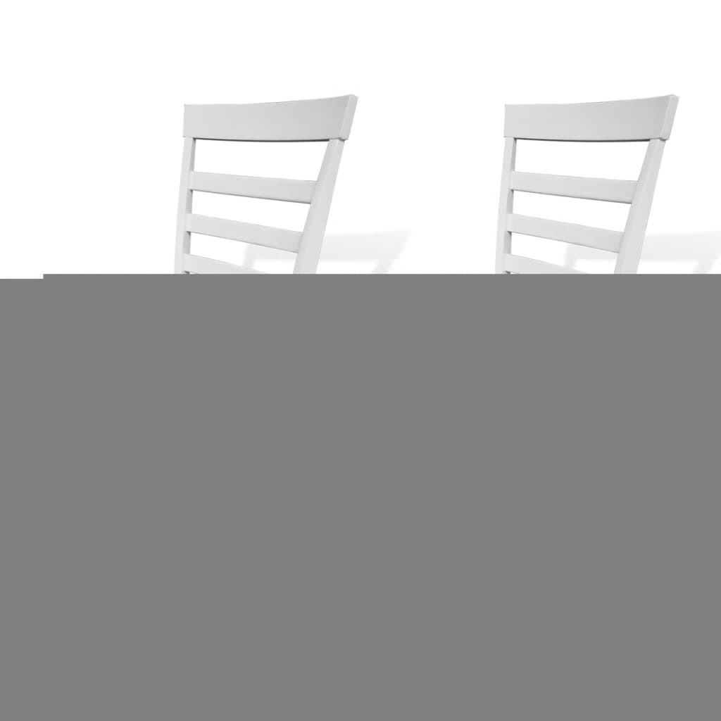 Pcs brown white solid wood dining chairs vidaxl