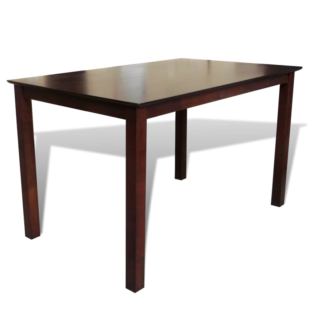 Solid Wood Kitchen Tables: Solid Wood Brown Dining Table 43.3""