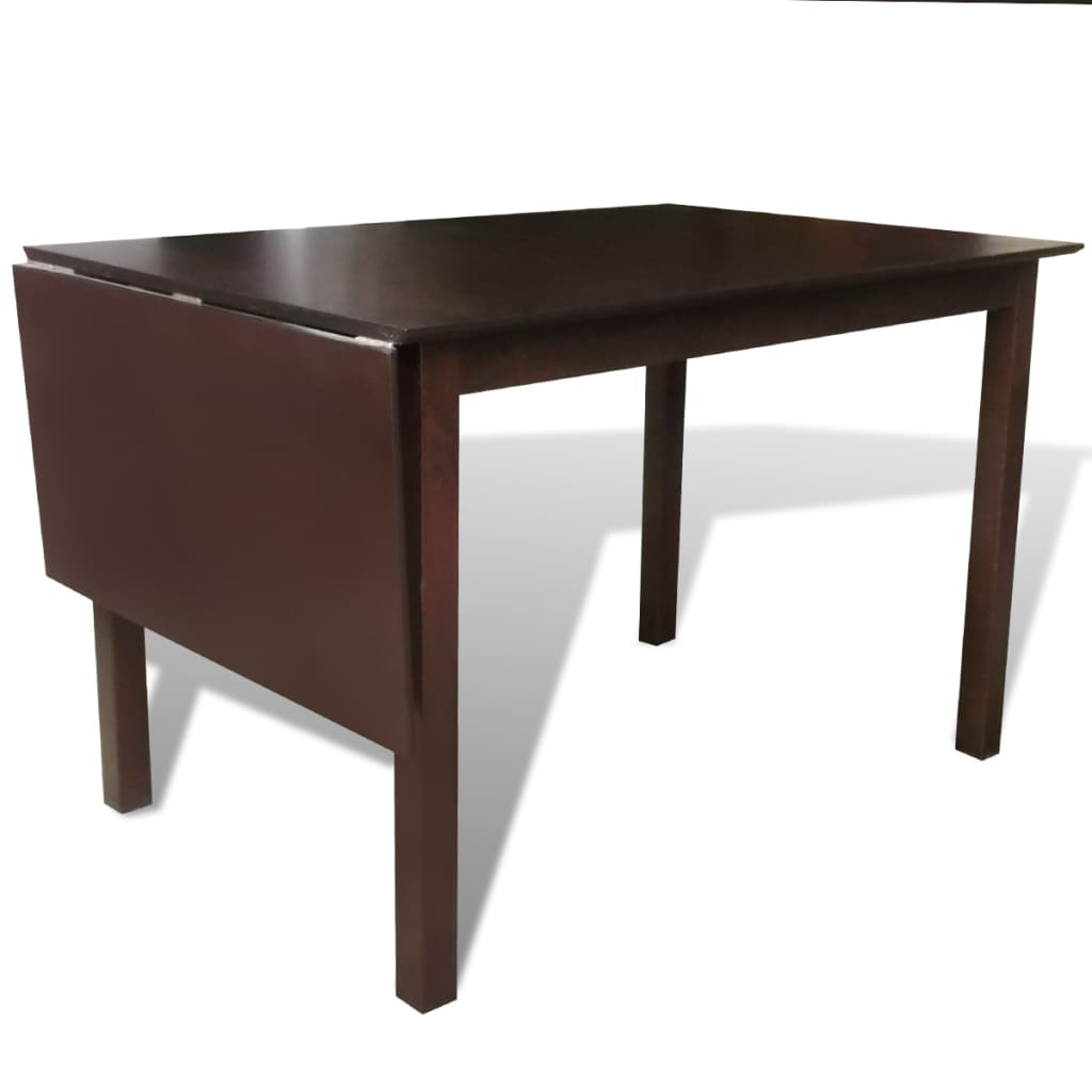 La boutique en ligne table extensible marron 150 cm en for Table en bois massif extensible