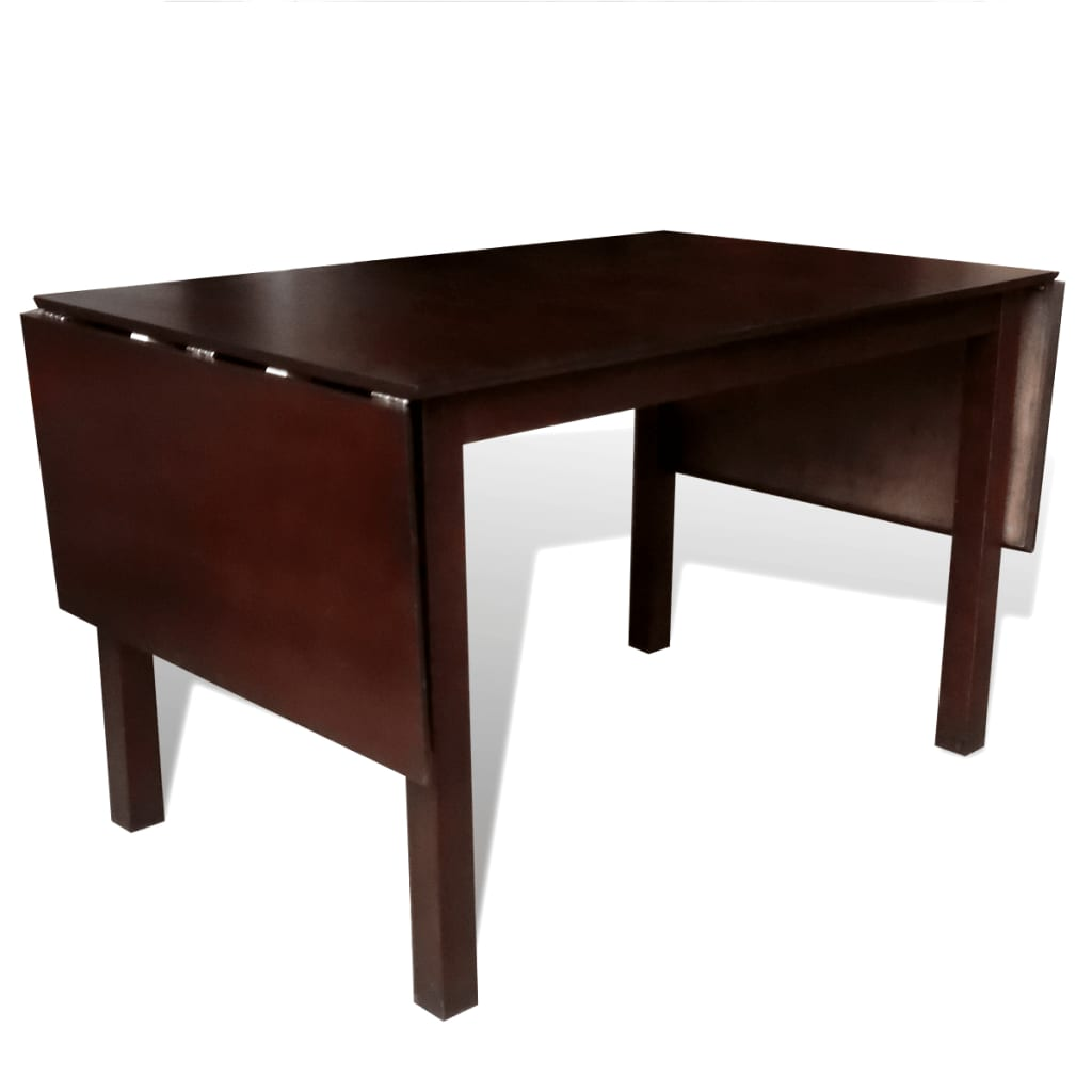 acheter table extensible marron 195 cm en bois massif pas. Black Bedroom Furniture Sets. Home Design Ideas
