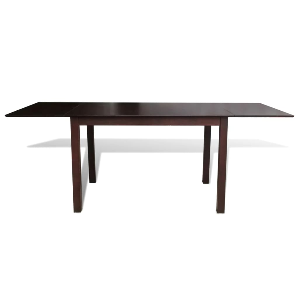 Acheter table extensible marron 195 cm en bois massif pas for Table extensible en solde