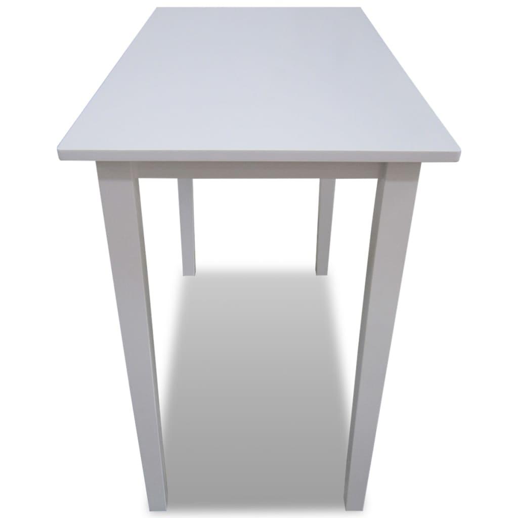 Tavolo da bar in legno bianco - Tavolo in legno bianco ...