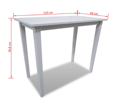 Table de bar blanche en bois for Table bar blanche
