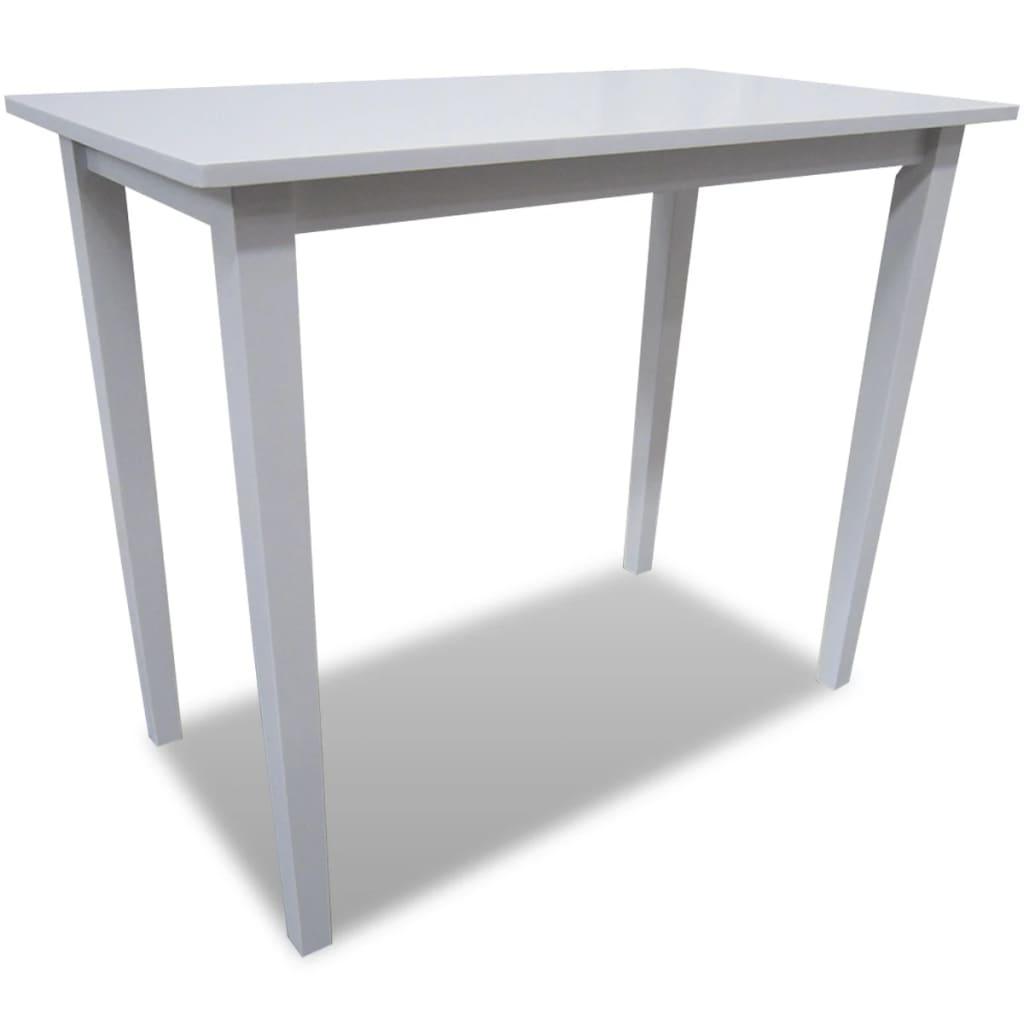 Acheter table de bar blanche en bois pas cher for Table de cuisine blanche et bois