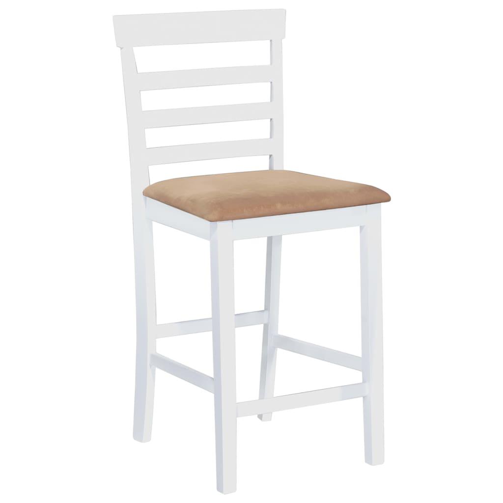 Acheter set de 2 chaises de bar en bois blanc beige pas for Ou acheter des chaises pas cher