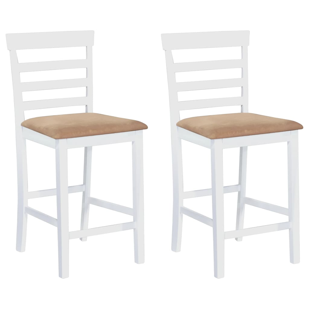 set table et chaises de bar en bois blanc marron ensemble de table et chaises ebay. Black Bedroom Furniture Sets. Home Design Ideas