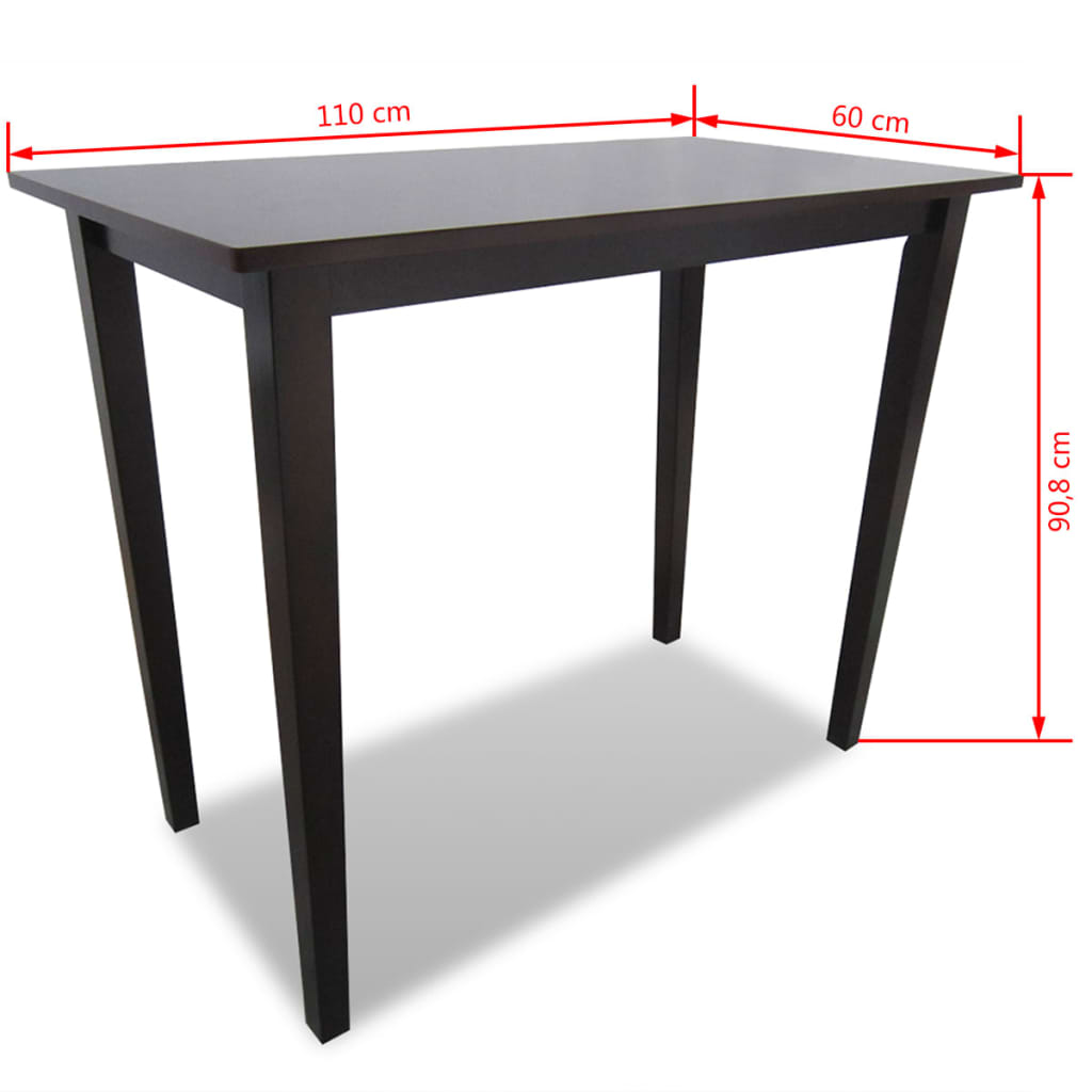 Acheter table de bar marron en bois pas cher for Table de bar en bois
