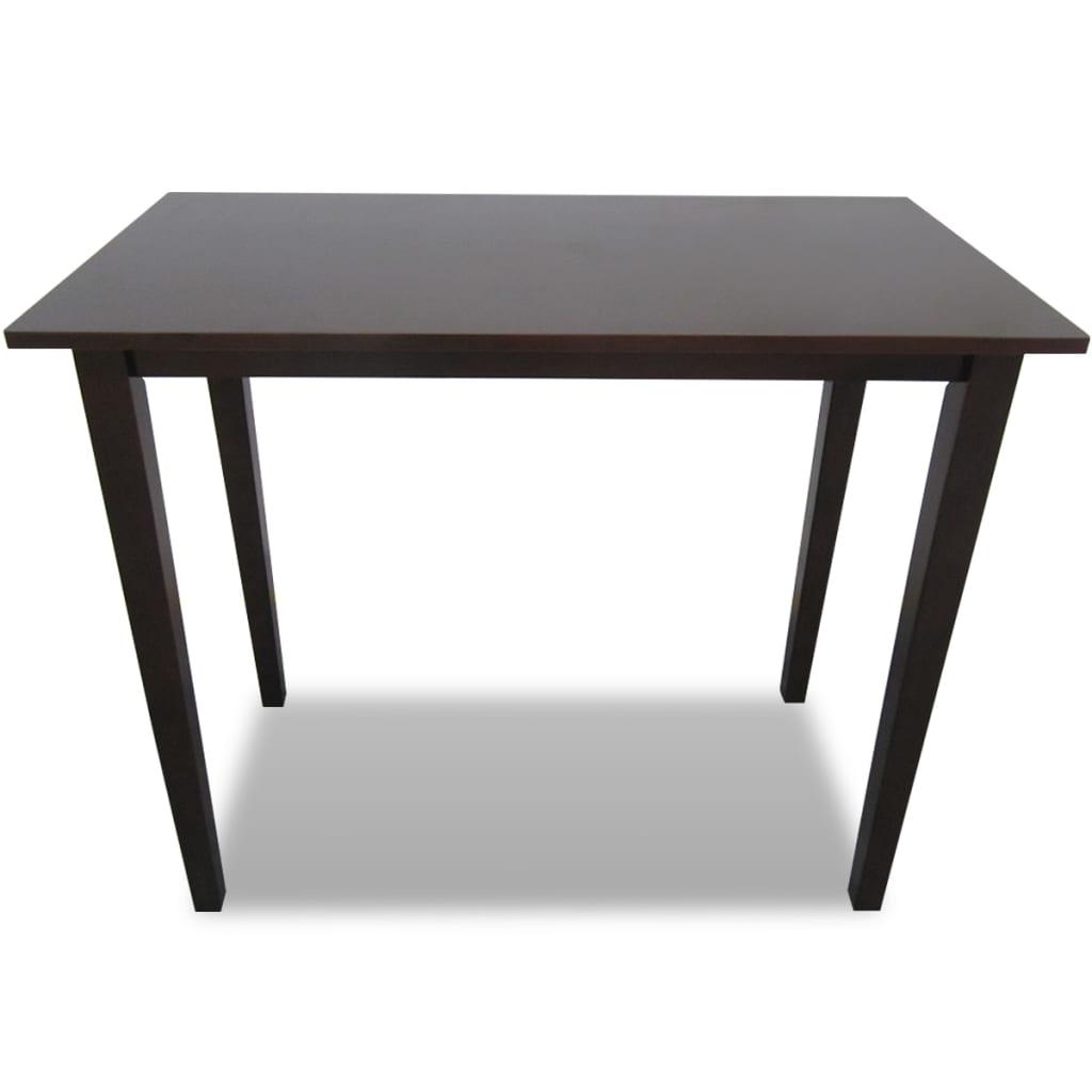 acheter table de bar marron en bois pas cher. Black Bedroom Furniture Sets. Home Design Ideas