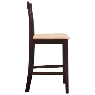 Drvena barska stolica, smeđa/bež, 2 komada[4/5]