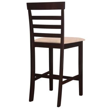 Drvena barska stolica, smeđa/bež, 2 komada[5/5]