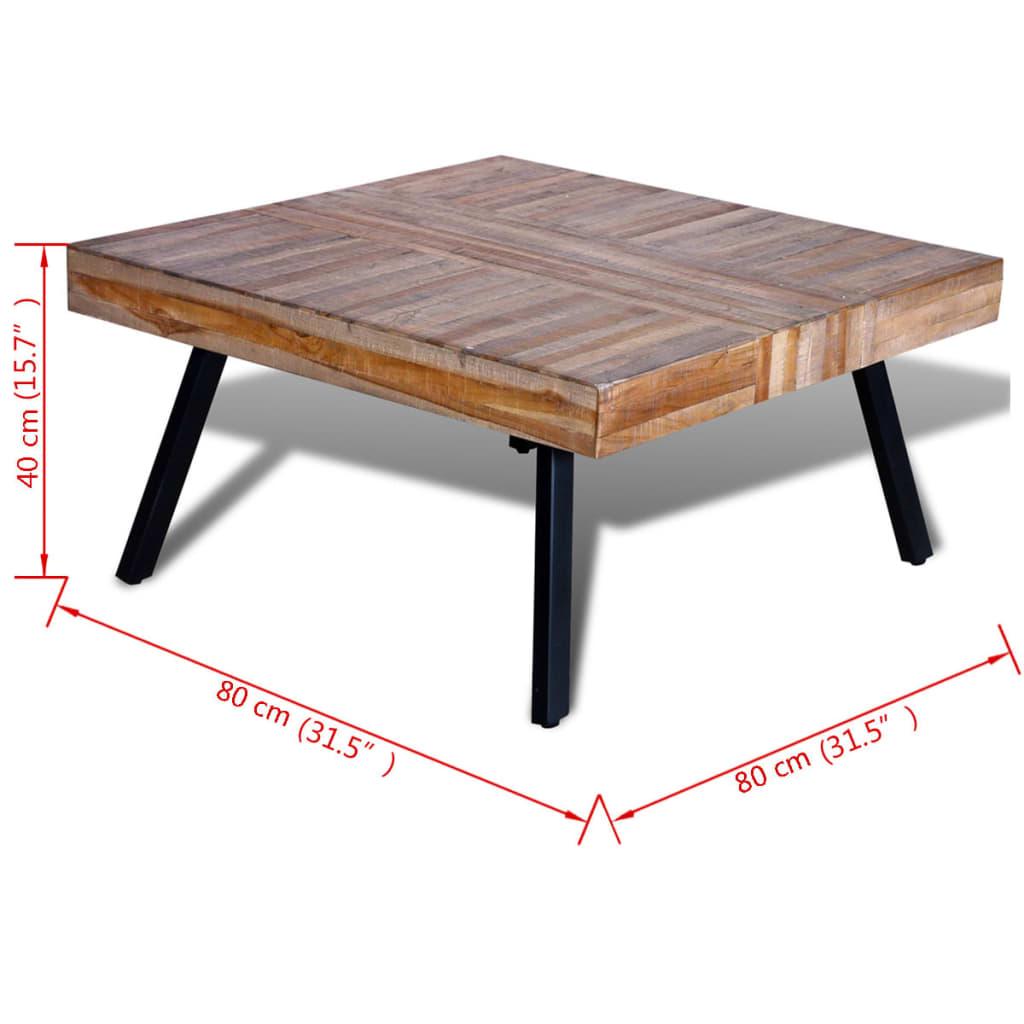Mesa de centro cuadrada de teca reciclada tienda online - Mesa de teca ...