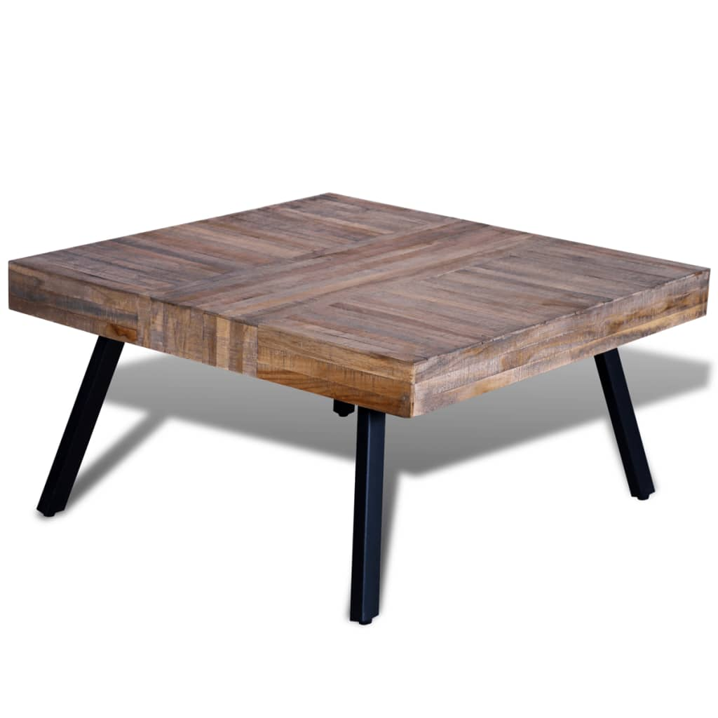 La boutique en ligne table basse carr e en teck recycl - Table basse en solde ...