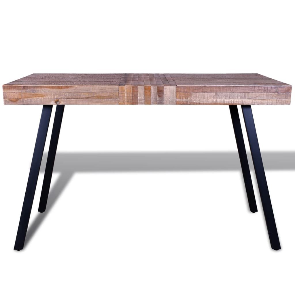 Table reclaimed teak for Table en bois