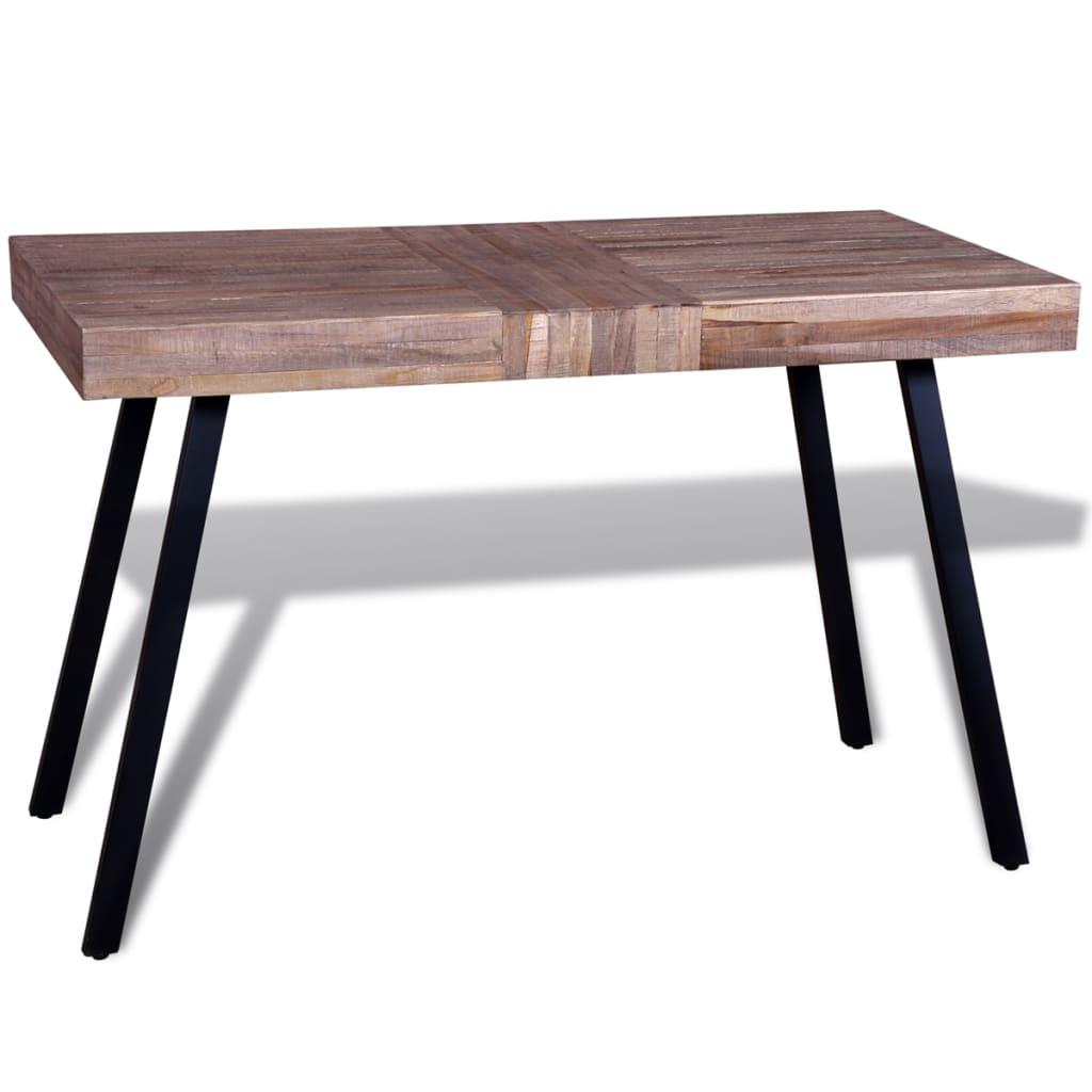 vidaXL Újrahasznosított tíkfa asztal