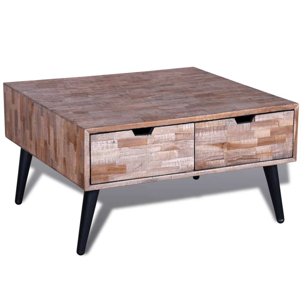 Coffee Table With 4 Drawers Reclaimed Teak