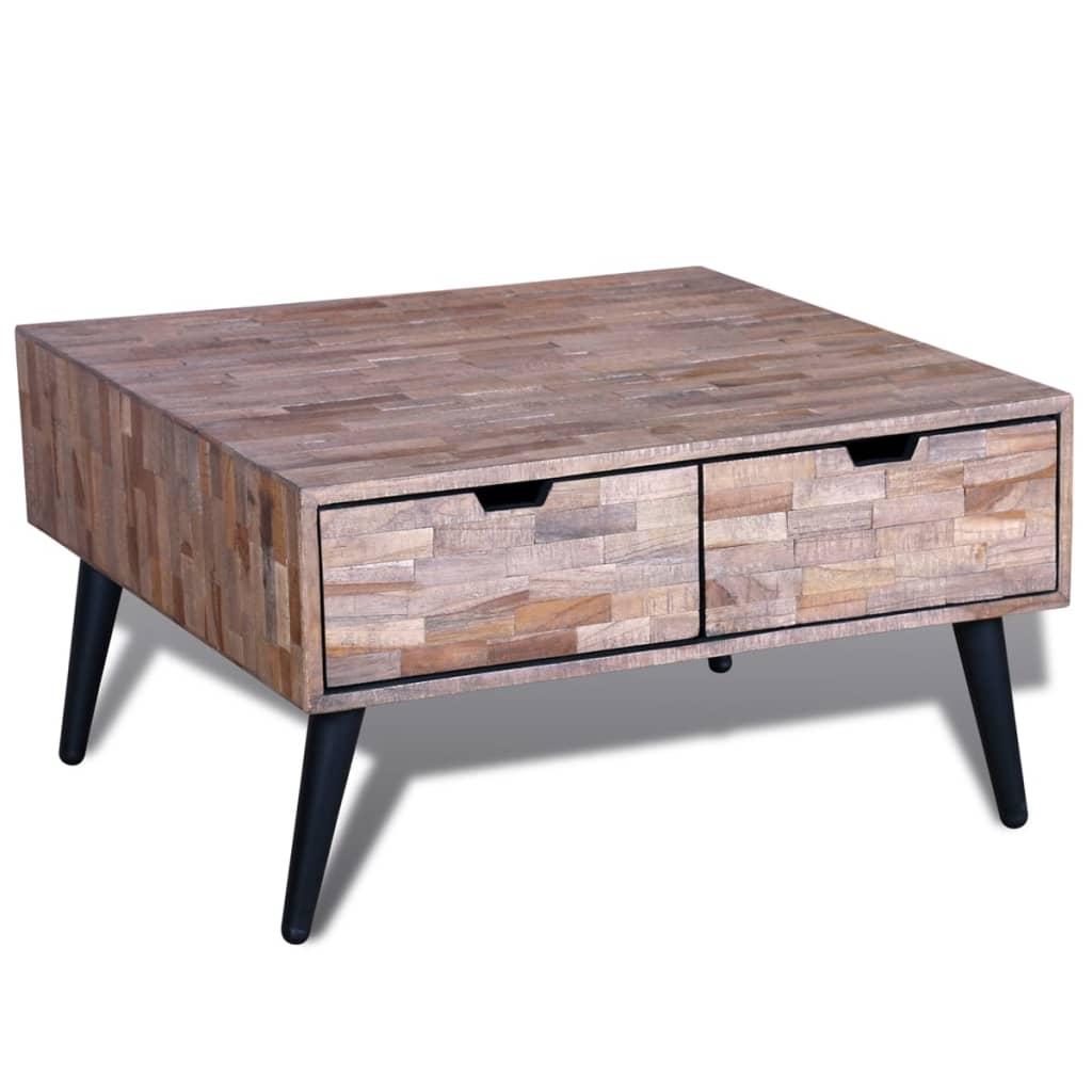 acheter table basse avec 4 tiroirs en teck recycl pas. Black Bedroom Furniture Sets. Home Design Ideas