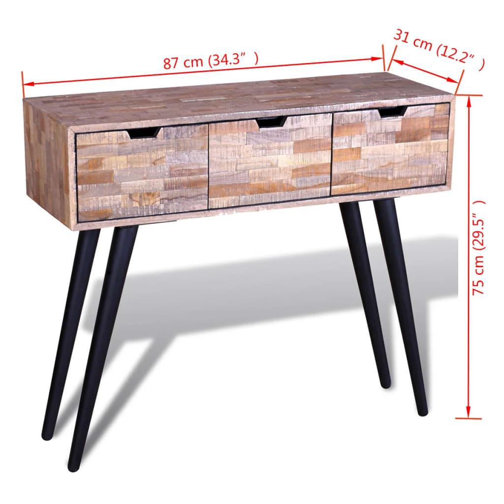 Mesa consola de teca reciclada - Mesa de teca ...