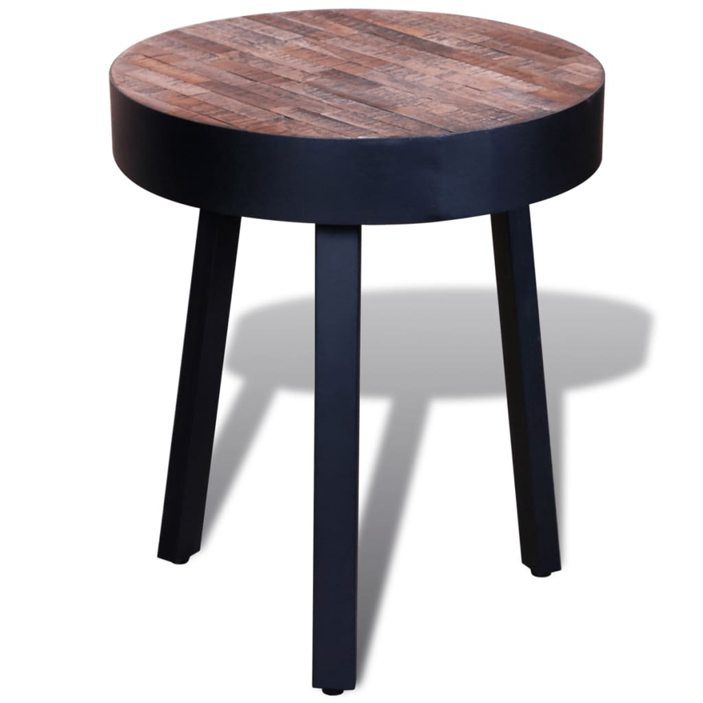 la boutique en ligne table d 39 appoint ronde en teck recycl. Black Bedroom Furniture Sets. Home Design Ideas