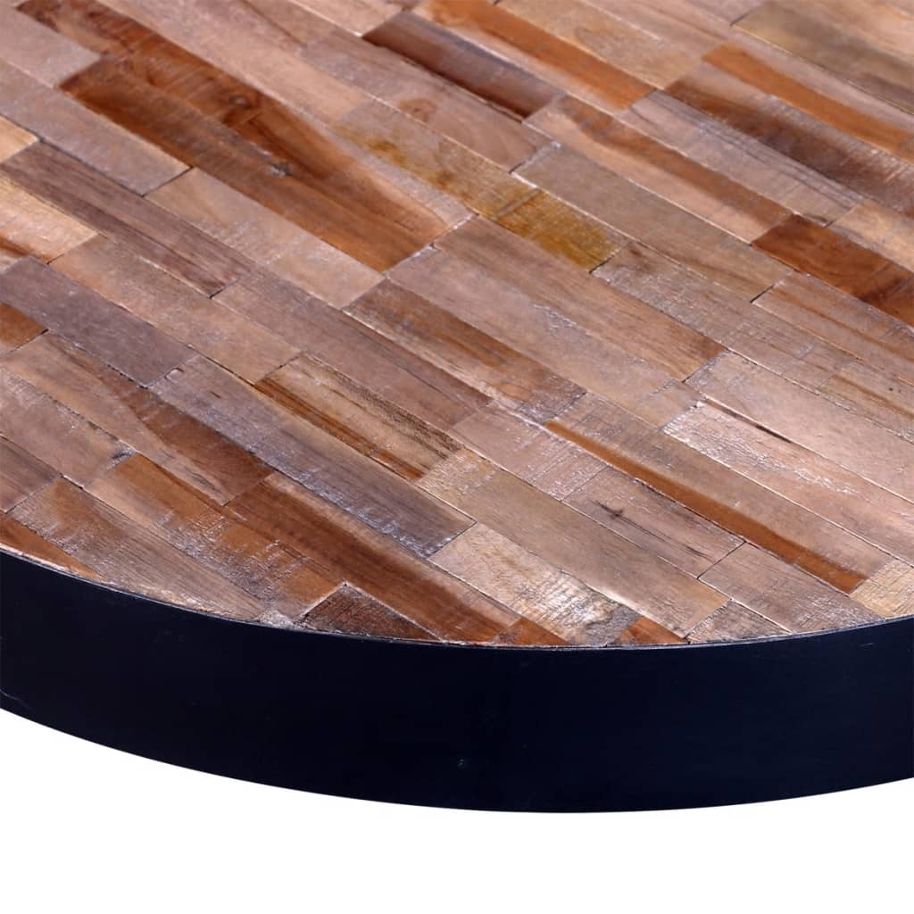 vidaXLcouk  Coffee Table Round Reclaimed Teak