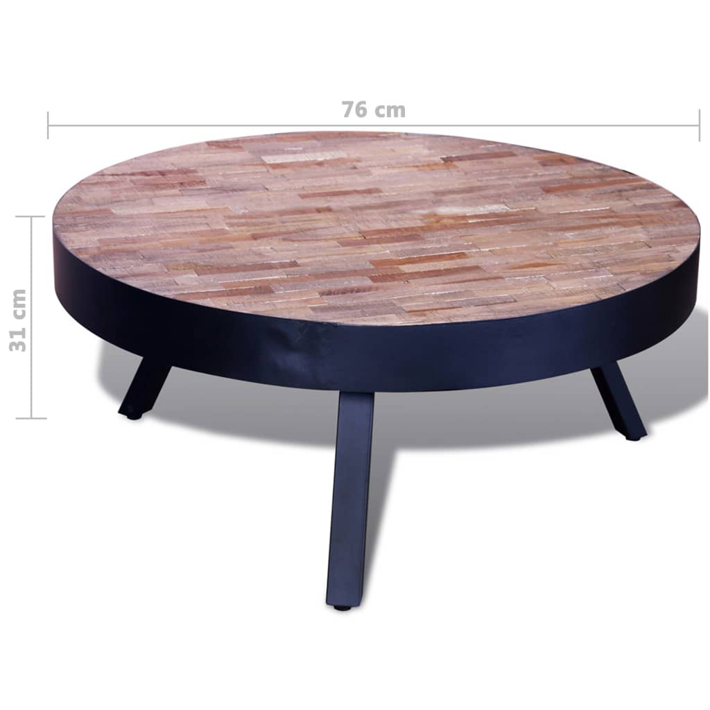 Big Round Reclaimed Wood Coffee Table 2 Sizes: Coffee Table Round Reclaimed Teak
