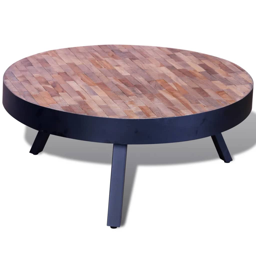 Vidaxl Coffee Table Teak Resin: Coffee Table Round Reclaimed Teak