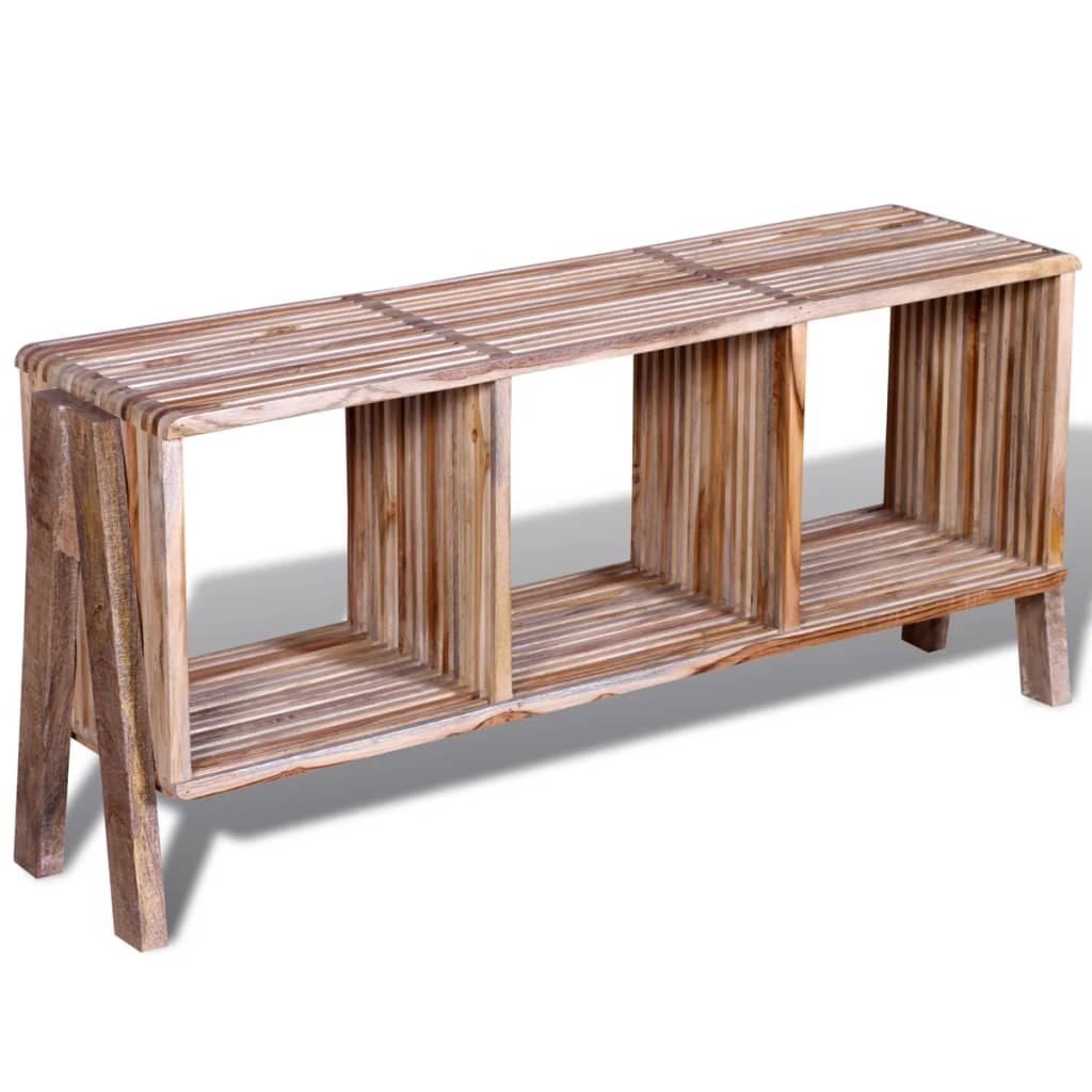 acheter meuble tv empilable en teck recycl avec 3. Black Bedroom Furniture Sets. Home Design Ideas