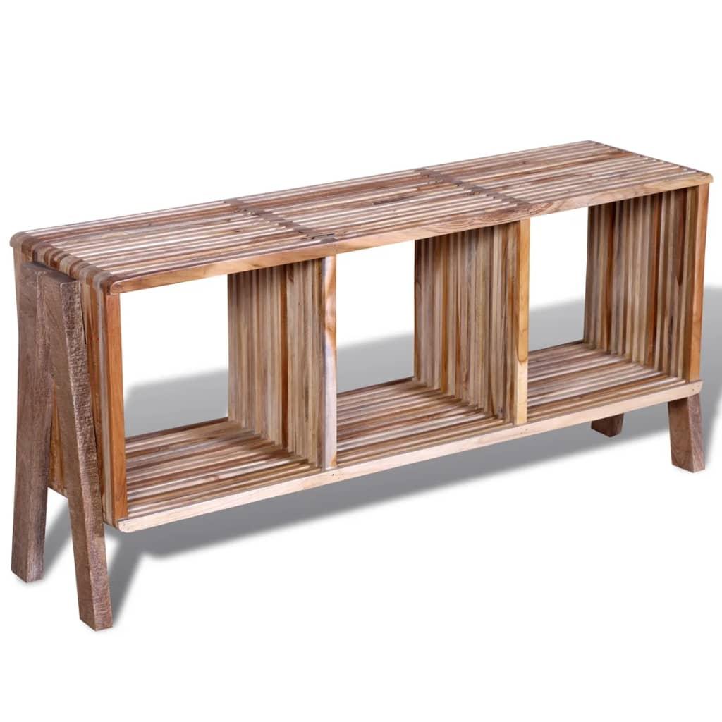 vidaXL Tv-meubel met 3 vakken gerecycled teak stapelbaar