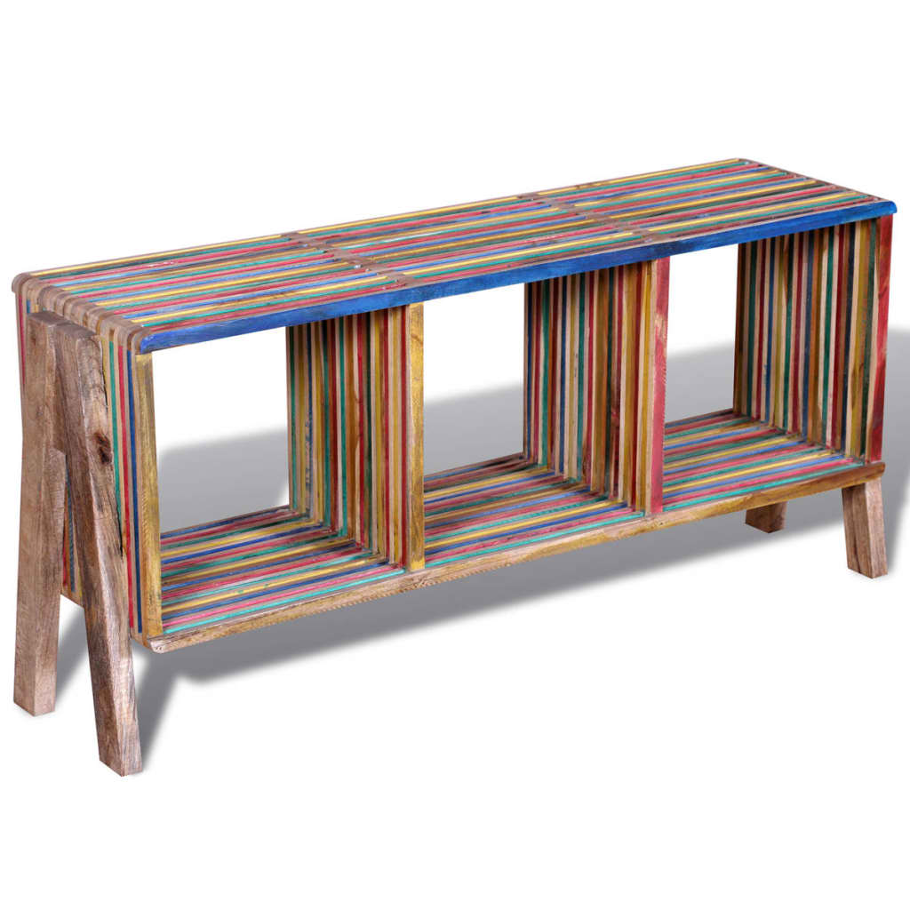 La boutique en ligne meuble tv empilable color en teck recycl avec 3 tag res - Meuble colore ...