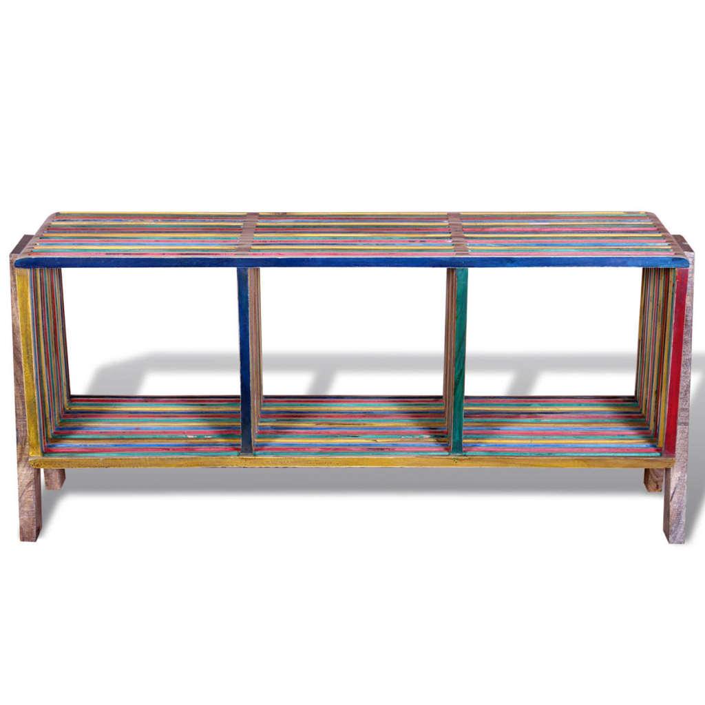 Acheter meuble tv empilable color en teck recycl avec 3 tag res pas cher - Meuble tv avec etagere ...