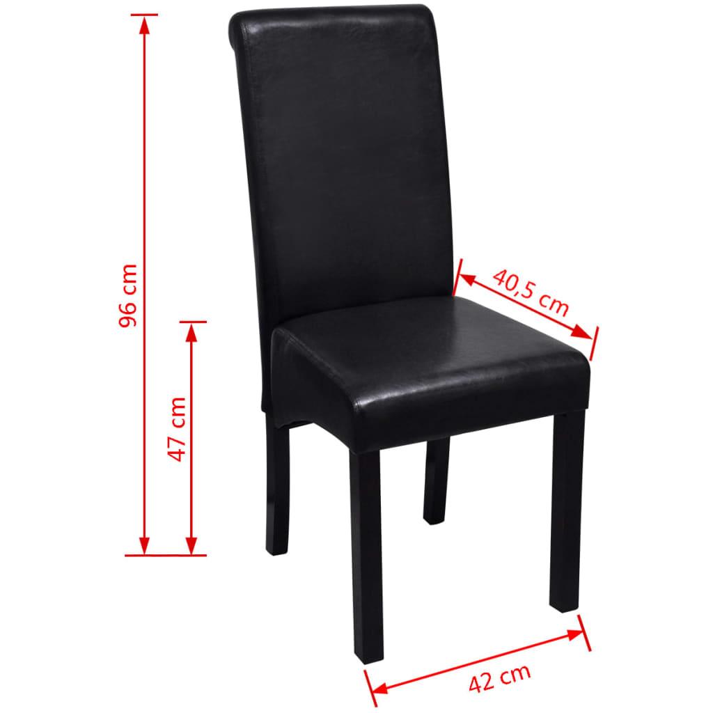 Esszimmerstuhl kunstleder schwarz 4er set g nstig kaufen for Esszimmerstuhl schwarz