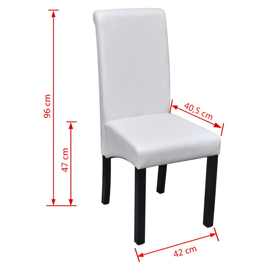 Acheter set de 2 chaises de salle manger blanches en for Salle a manger en solde