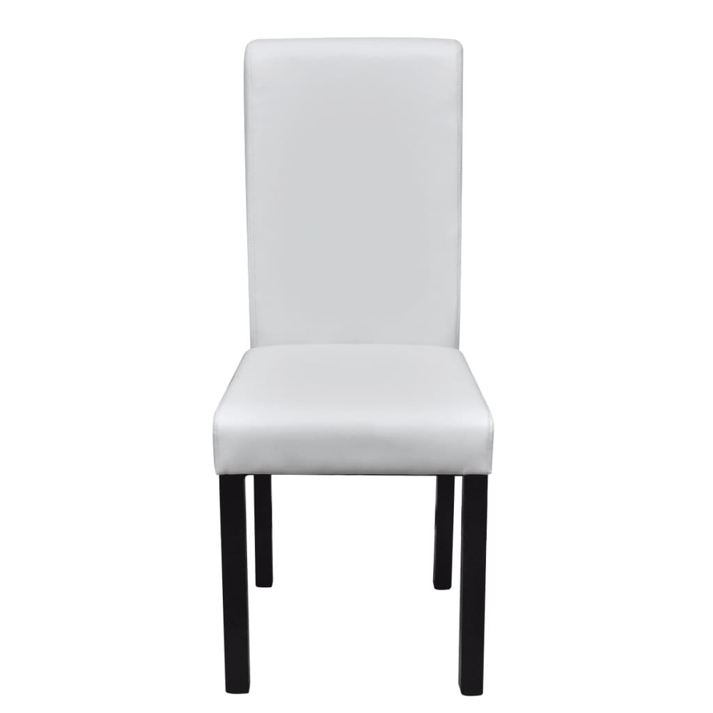 la boutique en ligne set de 2 chaises de salle manger blanches en cuir artificiel. Black Bedroom Furniture Sets. Home Design Ideas